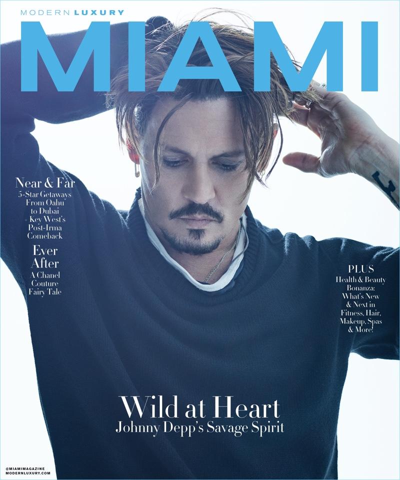 Actor Johnny Depp covers Modern Luxury Miami.