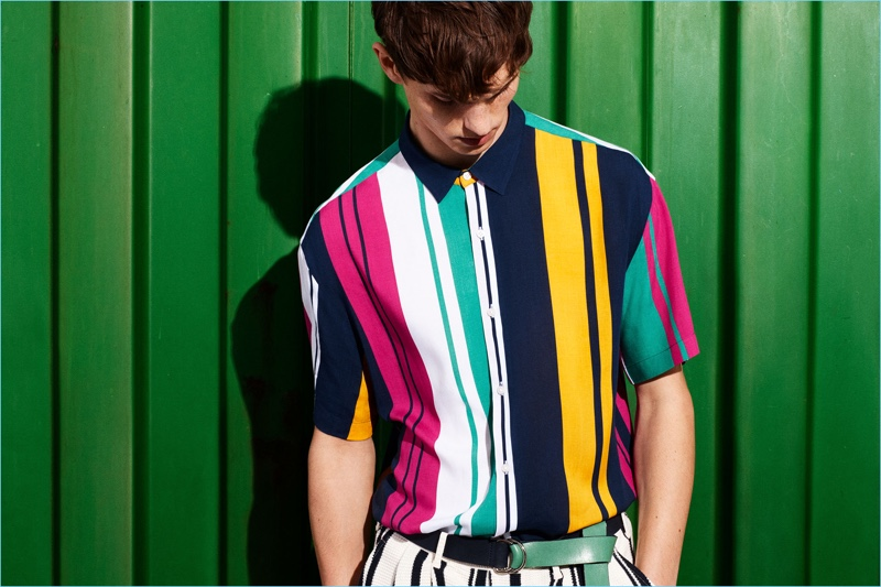 6e2d1b628f Connecting with Zara Man, Luc Defont-Saviard wears one of the brand's  colorful looks