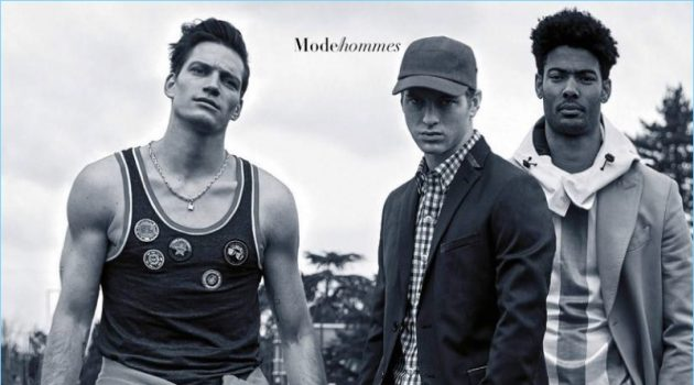 Florian Van Bael, Jules Raynal & Didier Zonga Go Sporty for Madame Figaro
