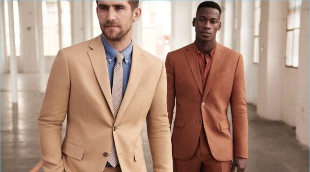 Will Chalker and David Agbodji don sharp suits from Mango Man.