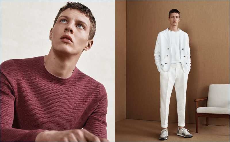 Model Tim Schuhmacher dons chic men's fashions from Massimo Dutti.