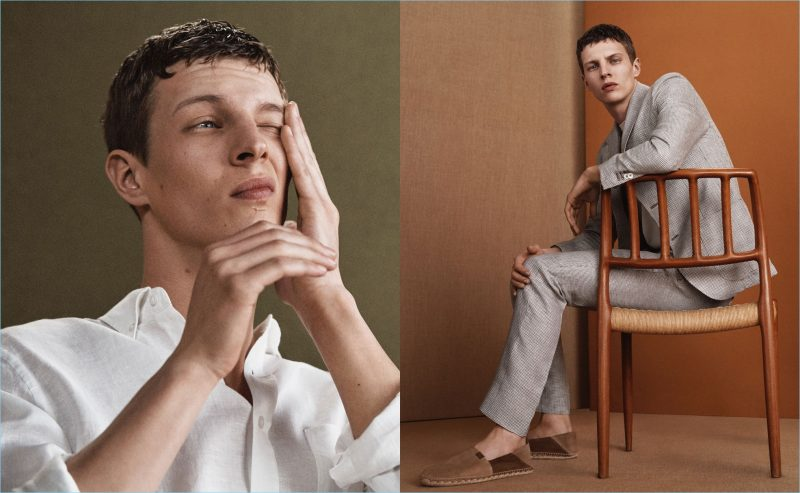 Massimo Dutti enlists Tim Schuhmacher to star in its spring 2018 mens editorial.