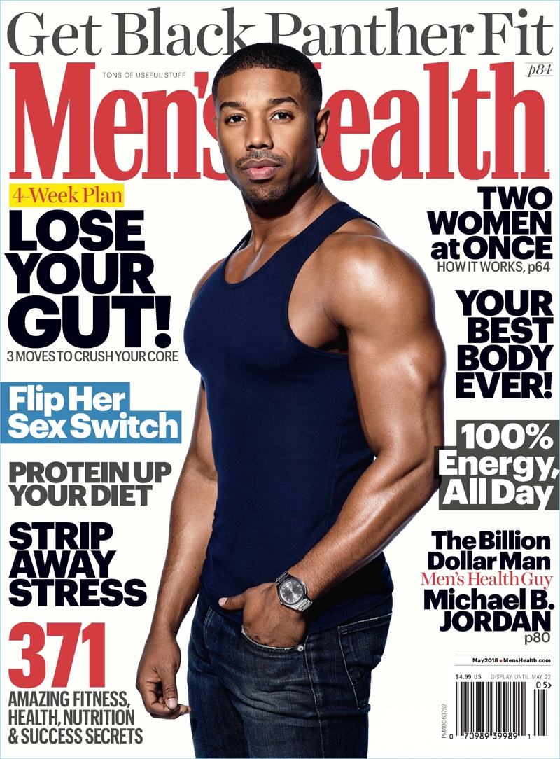 Michael B. Jordan covers the April 2018 issue of Men's Health.