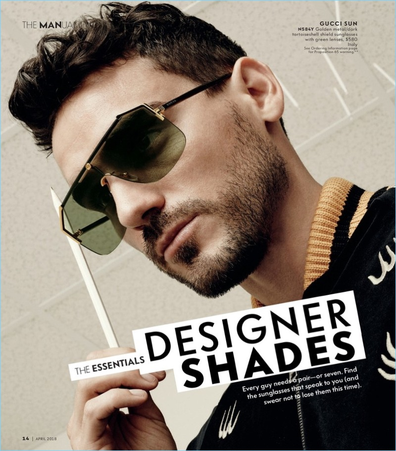 Arthur Kulkov wears Gucci sunglasses.