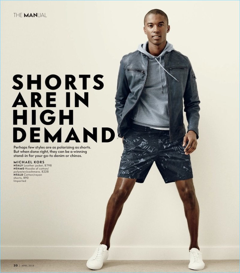Claudio Monteiro sports tropical print shorts by Michael Kors.