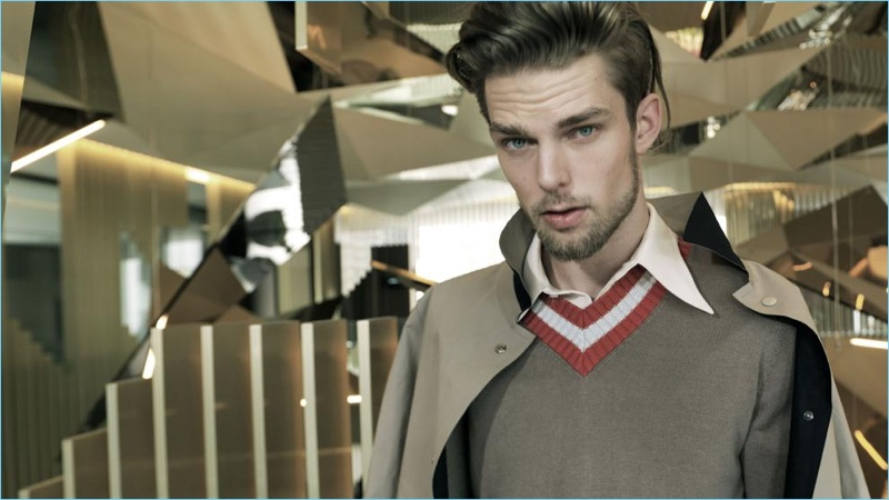 Nils Butler Models Eclectic Style for Hombre de Vanguardia