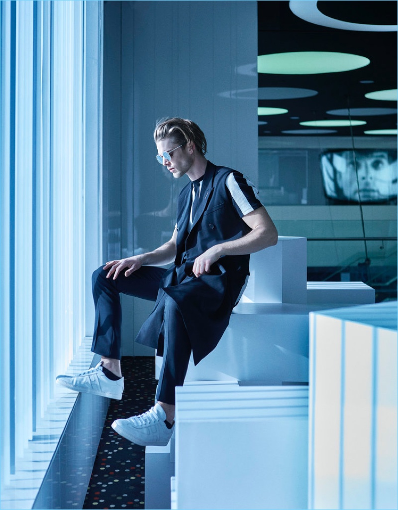 Nils Butler Embraces Futuristic Style for La Vanguardia Cover Story