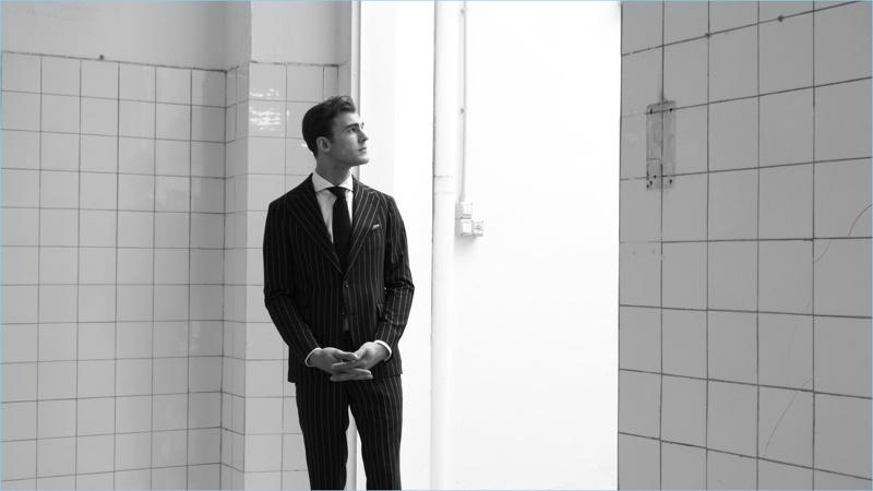 Tagliatore enlists Patrick Kafka as the star of its spring-summer 2018 film.