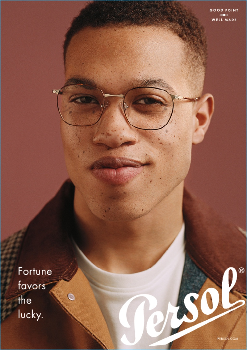 Tylique Walters stars in Persol's new eyewear campaign.