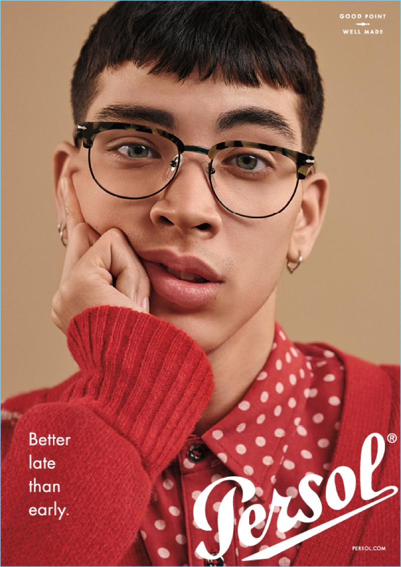 Louie Vasquez is a smart vision for Persol's eyewear campaign.