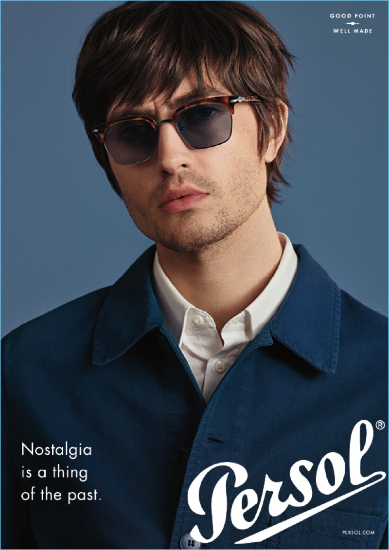 Spencer Draeger stars in Persol's new advertising campaign.