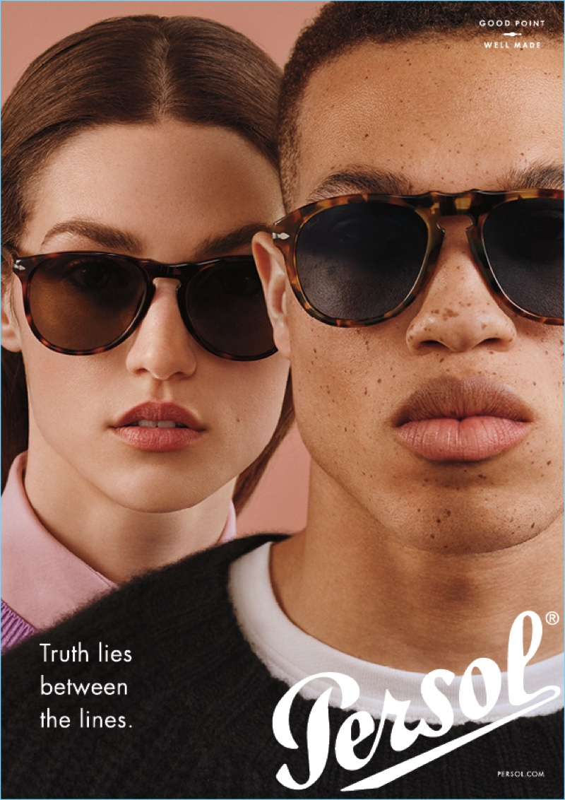 Models Magdalena Martynowicz and Tylique Walters front Perol's campaign.