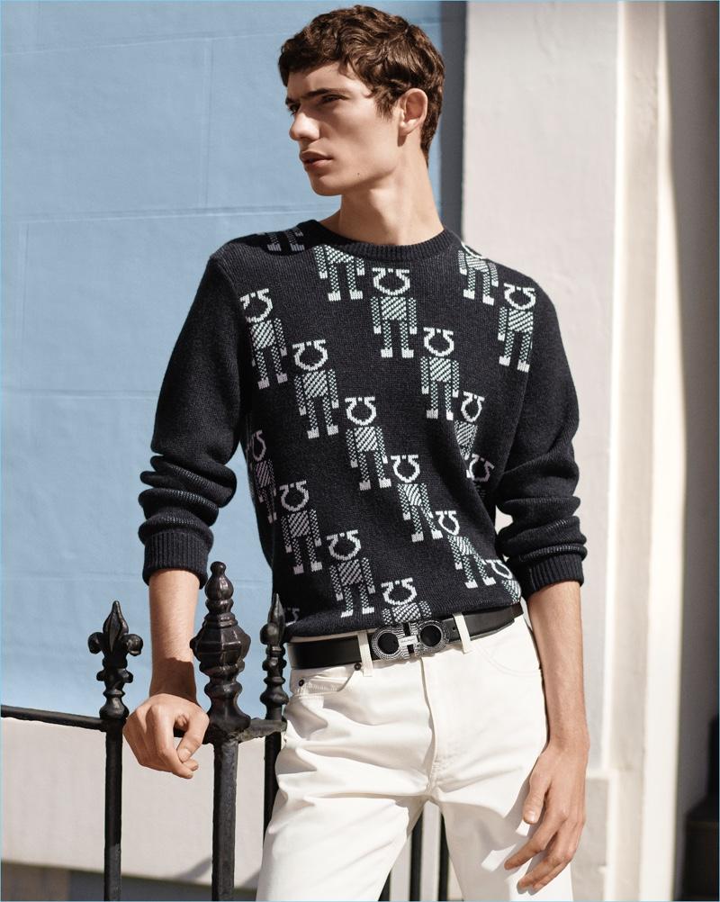 Making a style statement, Piero Méndez wears Salvatore Ferragamo s Switch  belt. a542af70d1
