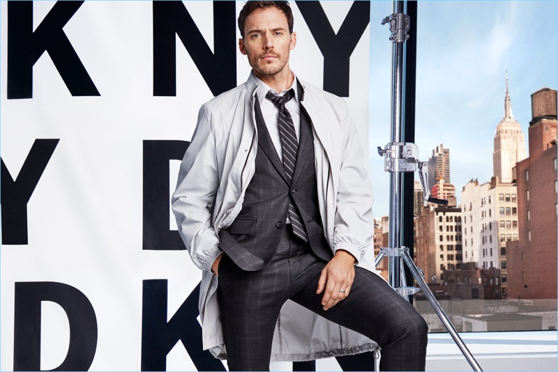 Actor Sam Claflin stars in DKNY's spring-summer 2018 campaign.