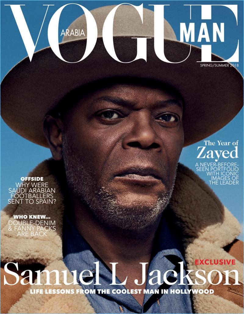 Samuel L. Jackson covers Vogue Man Arabia.