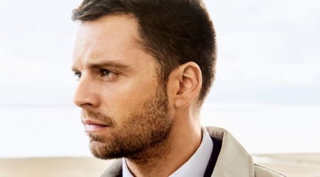 Starring in a new photo shoot, Sebastian Stan connects with August Man.
