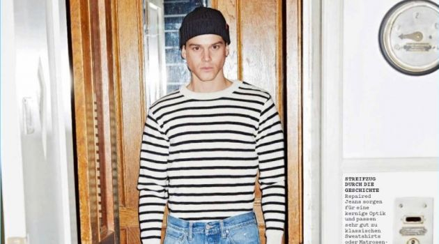 Sidney Wolf Models Workwear-Inspired Looks for Men's Health Germany