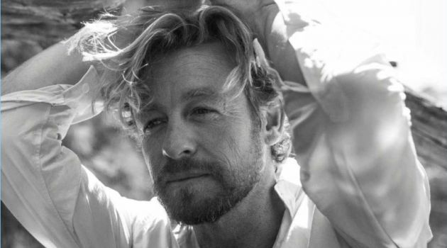 Simon Baker Poses for Harper's Bazaar Australia, Talks 'Breath'