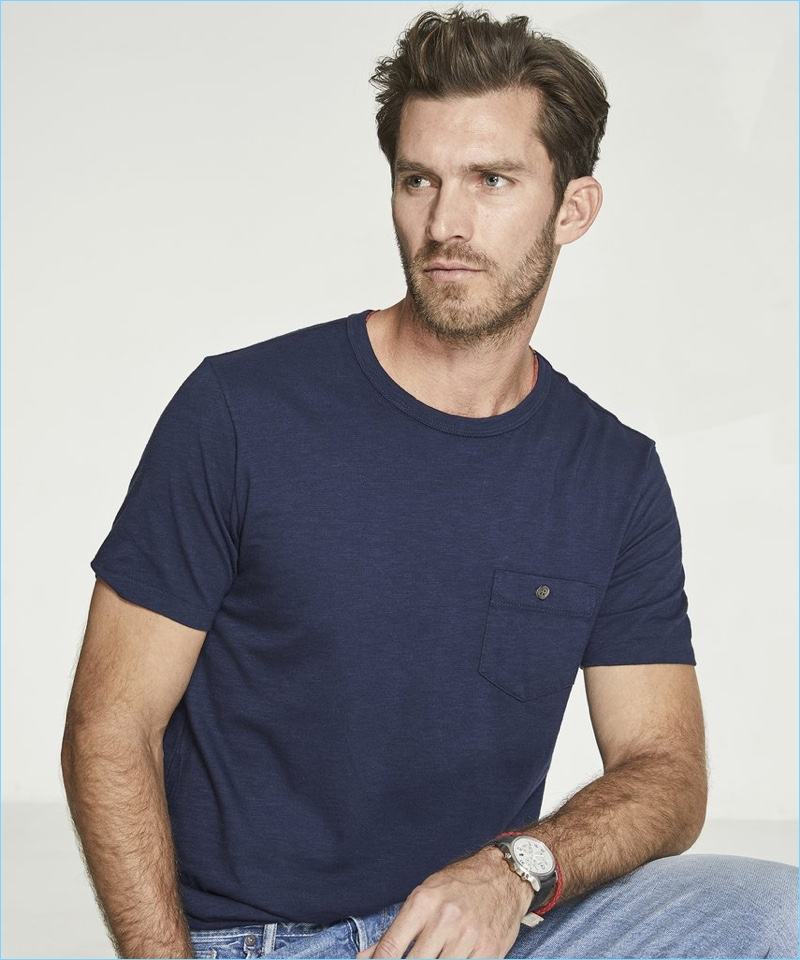 Todd Snyder Made in LA Garment Dyed Pocket T-Shirt