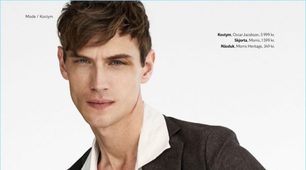 Victor Norlander Suits Up for King Magazine