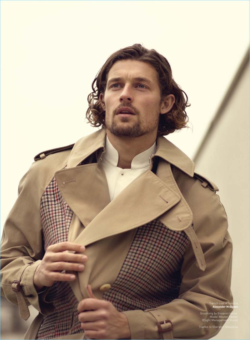 158a9c5b8ff Wouter peelen dons sharp trench coats for wall street italia jpg 800x1085 Wouter  peelen window