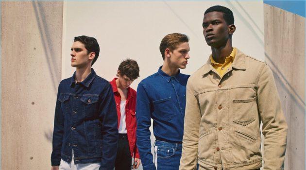 Marijn Aper, Elias de Poot, Salomon Diaz, and Oskar Dalsjø connect with Zara Man to showcase its latest denim styles.