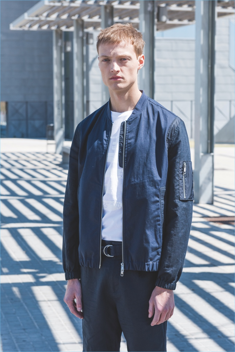 Antony Morato enlists Dane Bell to model a look from its summer #GetLoose collection.