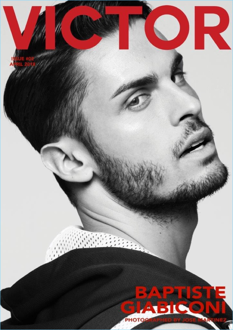 Baptiste Giabiconi Goes Sporty for Victor Magazine