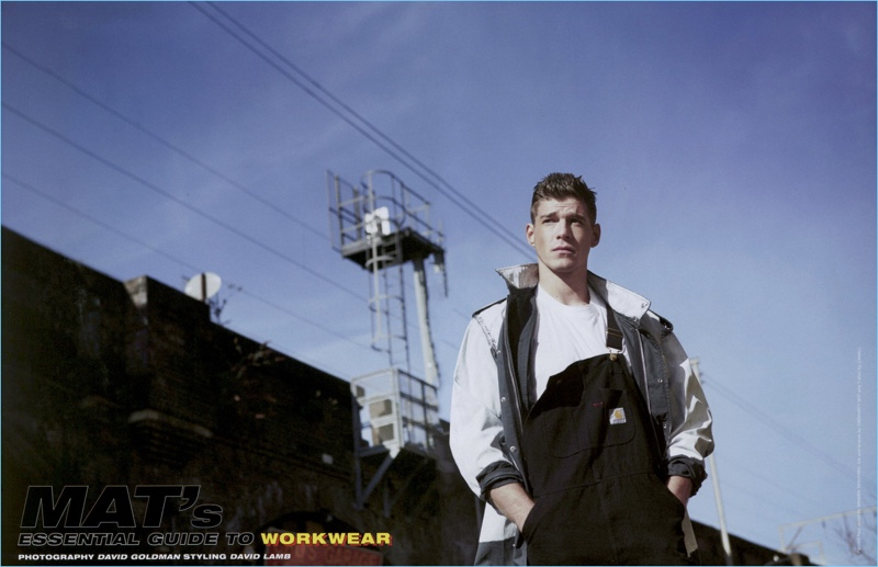 Bertold Zahoran Models Workwear-Inspired Looks for Man About Town