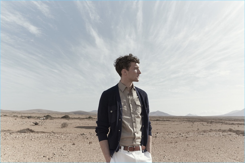 Alistair Taylor-Young photographs Jacob Coupe for Brunello Cucinelli's spring-summer 2018 campaign.
