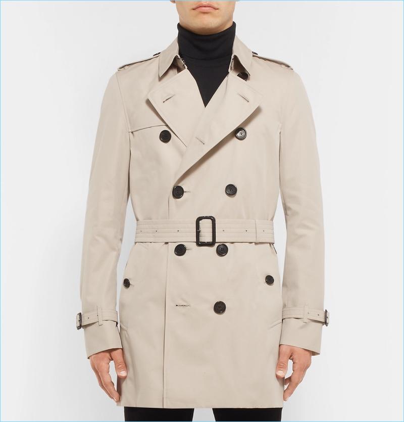 Burberry Kensington Mid-Length Weatherproof Cotton-Gabardine Trench Coat