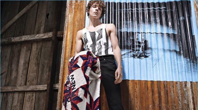 Alec Pollentier stars in Calvin Klein 205W39NYC's pre-fall 2018 campaign.