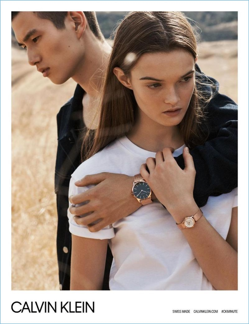 Calvin Klein enlists Kohei Takabatake and Lulu Tenney as the stars of its spring-summer 2018 watches campaign.