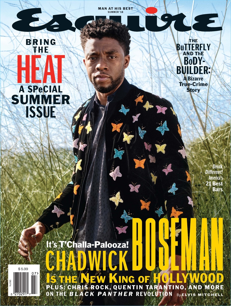 Chadwick Boseman covers the summer 2018 issue of Esquire.
