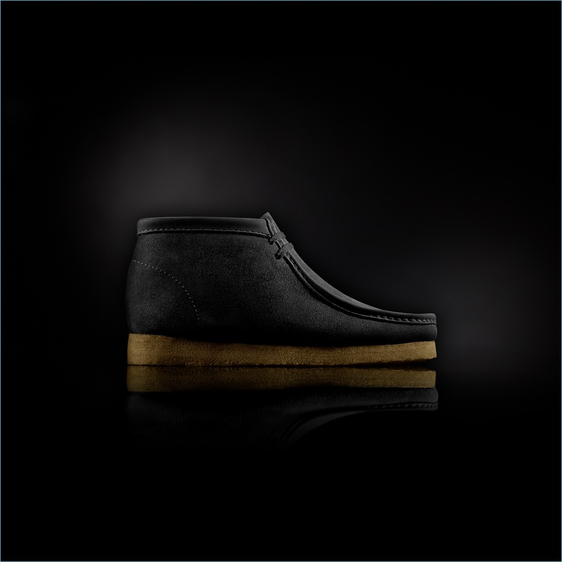 """Clarks """"Made in Italy"""" Wallabee Boots in Black"""