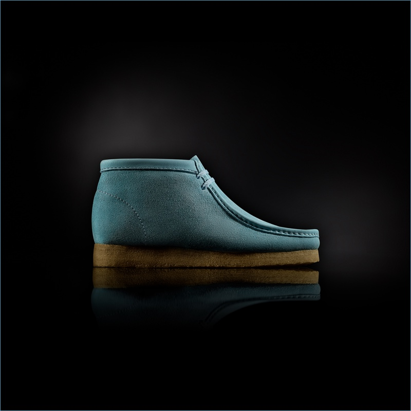 """Clarks """"Made in Italy"""" Wallabee Boots in Blue"""