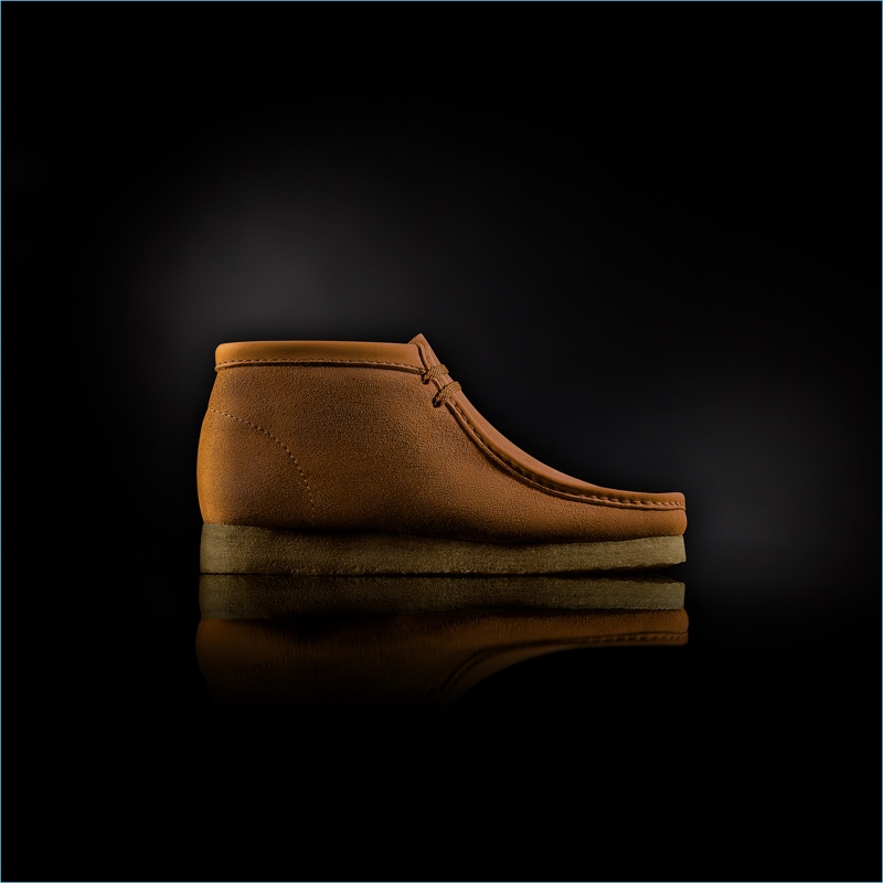 """Clarks """"Made in Italy"""" Wallabee Boots in Ochre"""