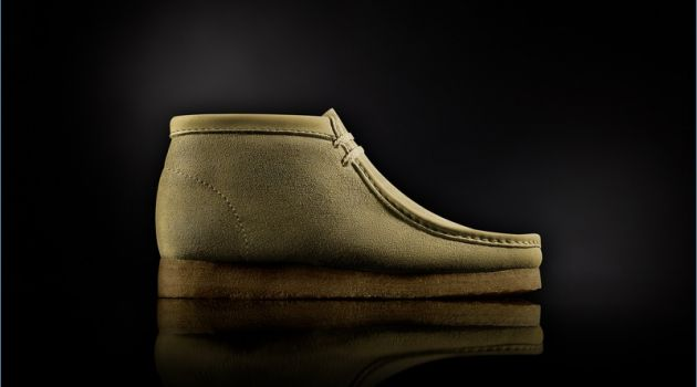 "Clarks ""Made in Italy"" Wallabee Boots in Sand"