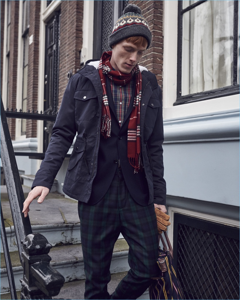 Dressed for winter, Linus Wordemann stars in Club of Gents' latest campaign.