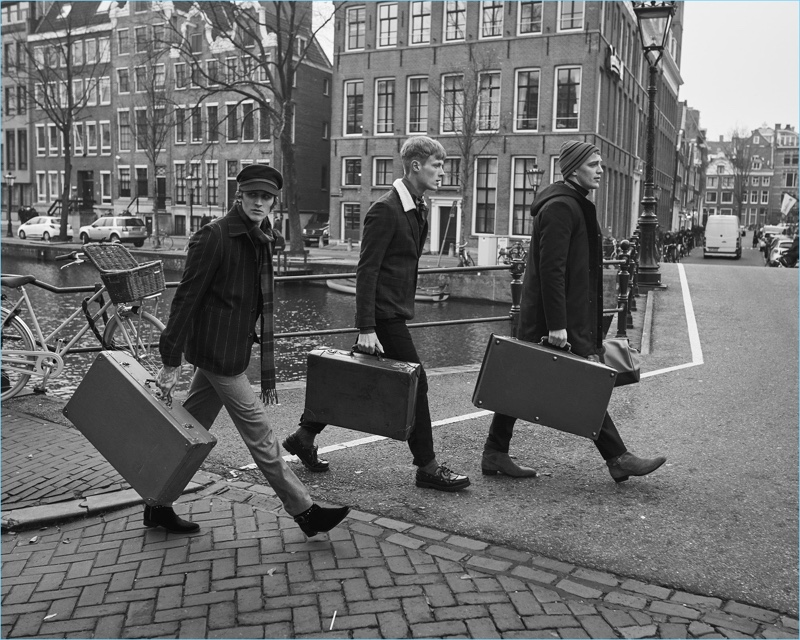 Club of Gents enlists Leebo Freeman, Linus Wordemann, and Guillaume Babouin as the stars of its fall-winter 2018 campaign.