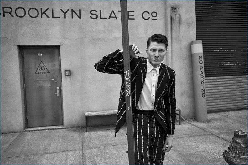 Eli Hall Dons Retro-Inspired Style for Avant Garde Magazine