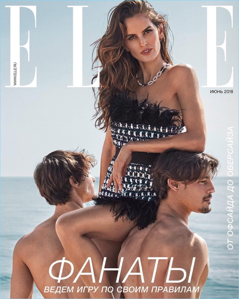 Edu & George Roman Join Izabel Goulart for Elle Russia Cover Story