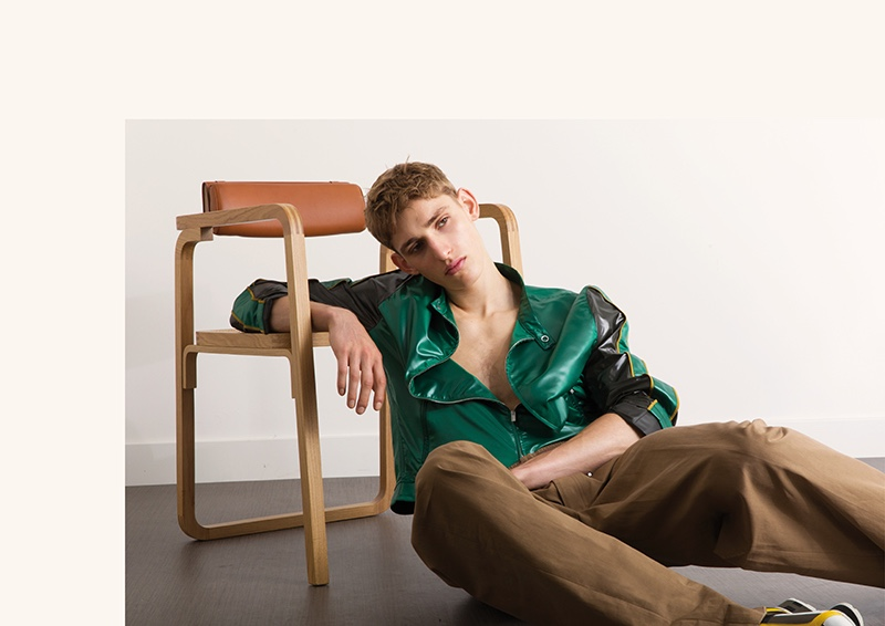 Yanniek Buijs dons a sporty look from Hermès.
