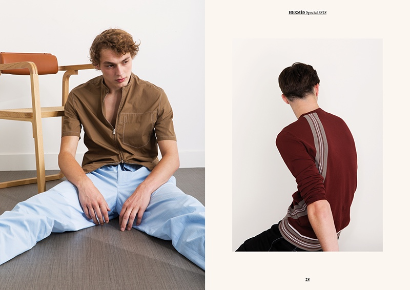 Pictured Left: Dani van de Water in Hermès spring-summer 2018.