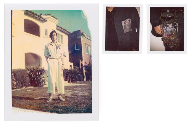 Jung Yun wears belt Off-White, sandals stylist's own, top and trousers Alexander Wang.