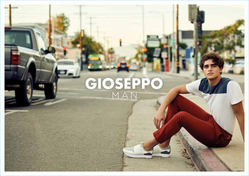 Model Pepe Barroso appears in Gioseppo Man's spring-summer 2018 campaign.
