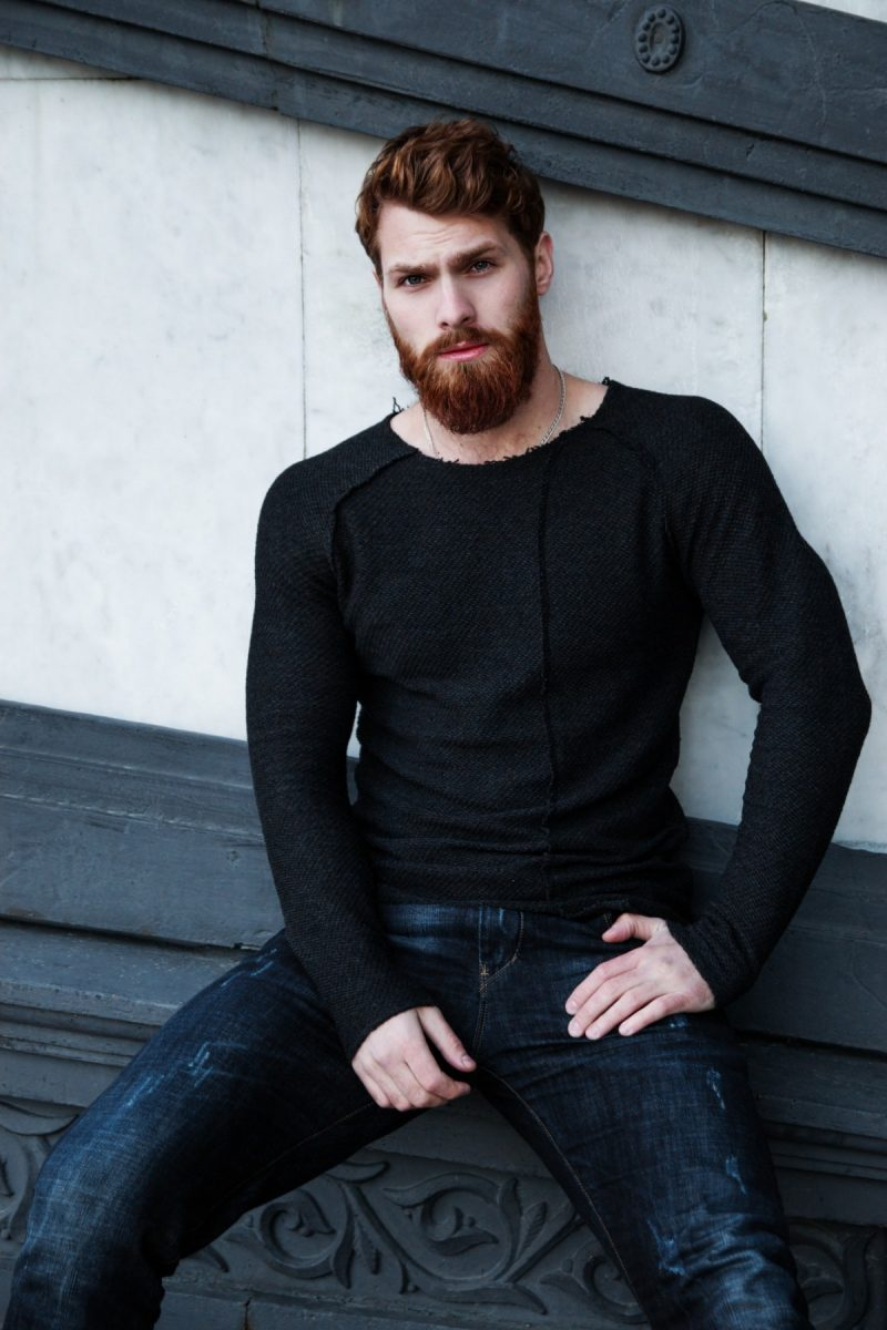 Red Bearded Handsome Man
