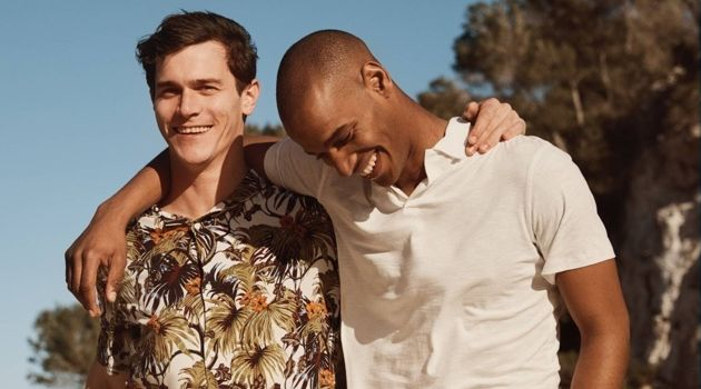 Under the Sun: Vincent LaCrocq & Sacha M'Baye Don H&M's Latest Styles