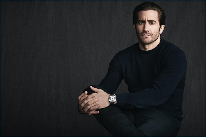 Jake Gyllenhaal stars in a new Santos de Cartier campaign.