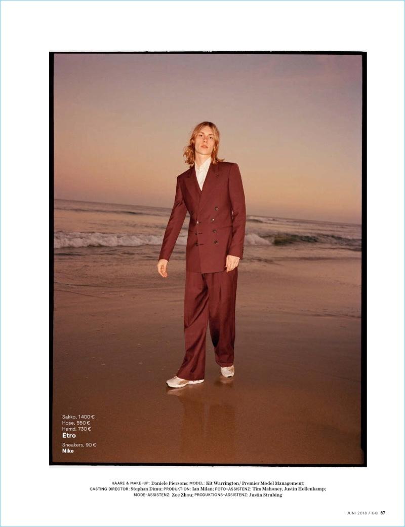Kit Warrington Rocks Tailored Fashions for GQ Germany
